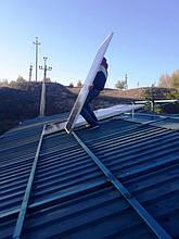 Установка солнечных батарей.