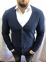 Пуловер мужской 9458 синий Турция оптом