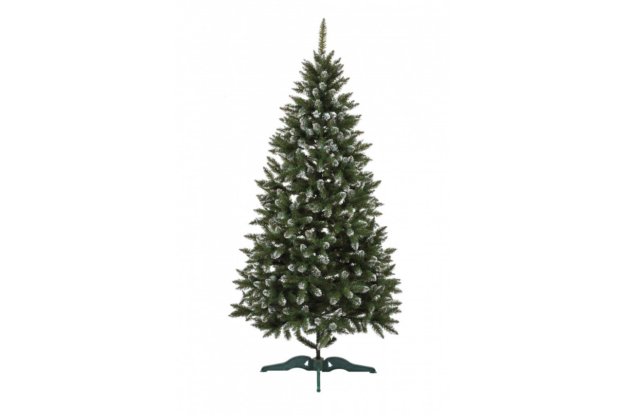 Штучна новорічна ялина Анастасія Зелена з білими кінчиками 100см ЯША-БК-1,00
