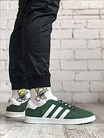 Мужские кроссовки Adidas Gazelle Green White