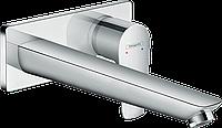Змішувач для раковини зі стіни Hansgrohe Talis E : прихований монтаж 225 мм хромований
