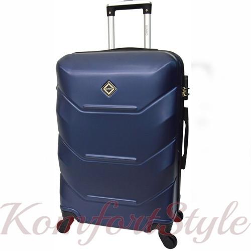 Дорожный чемодан на колесах Bonro 2019 маленький темно-синий (10500404)