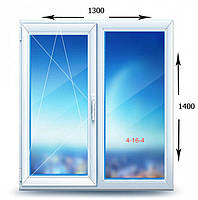 Окно металлопластиковое 1300x1400 (VST)
