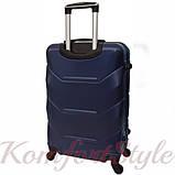 Дорожный чемодан на колесах Bonro 2019 маленький темно-синий (10500404), фото 2