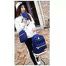 Рюкзак набор в горошек с сумкой и косметичкой синий Wenyujh (281), фото 2