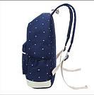 Рюкзак набор в горошек с сумкой и косметичкой синий Wenyujh (281), фото 3
