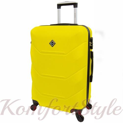 Дорожный чемодан на колесах Bonro 2019 средний желтый (10500500)