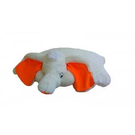 Подушка игрушка - Слон 55 см (55*50*15 см) персиковый