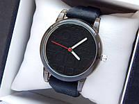 Кварцевые наручные часы Adidas (адидас) на силиконовом ремешке, с прозрачным корпусом, черные - код 1604, фото 1