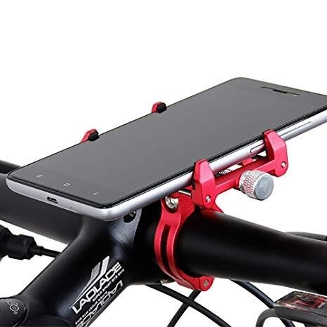 """Держатель для смартфона 3,5-6,2"""" AL с алюм. креплением на руль/вынос GUB G-86 (красный)"""