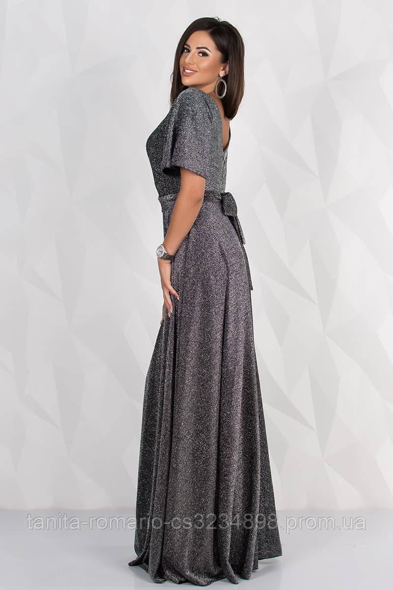 Вечернее платье 8133e Черный-Серебро S M L