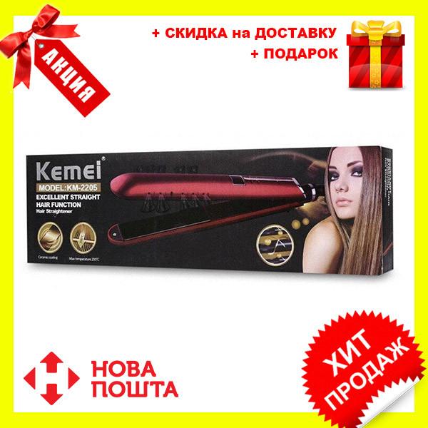 Утюжок для волос Kemei JB-KM-2205 | выравниватель | выпрямитель | утюжок для выпрямления