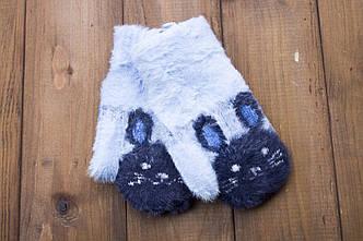 Детские варежки ангорка голубые 0084-8, фото 2
