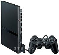 Sony Playstation 2 Slim (БУ) + доп. геймпад + карта памяти