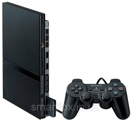 Sony Playstation 2 Slim (БУ) + доп. геймпад + карта памяти, фото 2