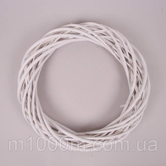 Вінок з лози Білий 35 см, пофарбований H16123-35WH-5
