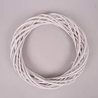 Вінок з лози Білий 35 см, пофарбований H16123-35WH-5, фото 1