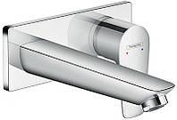 Змішувач для раковини зі стіни Hansgrohe Talis E : прихований монта165 мм хромований
