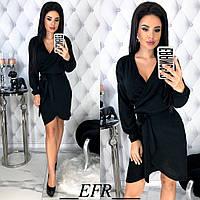 Платье женское с запахом ЕФ/-464 - Черный, фото 1