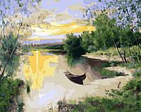Картина по номерам Лодка на пруду 1