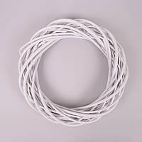 Венок из лозы белый 35 см. Окрашенный H16123-35-MIX