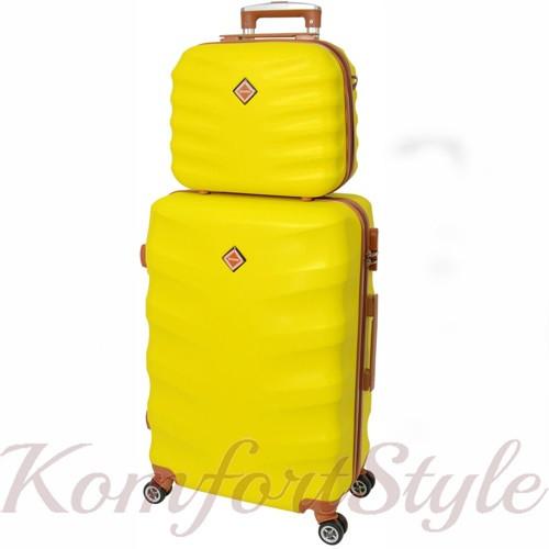 Комплект чемодан и кейс Bonro Next  маленький желтый (10066707)