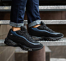 Кросівки чоловічі зимові чорно сині, фото 3