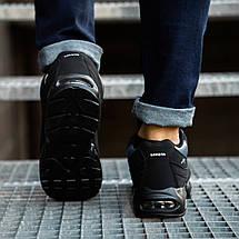 Кросівки чоловічі зимові чорно сині, фото 2