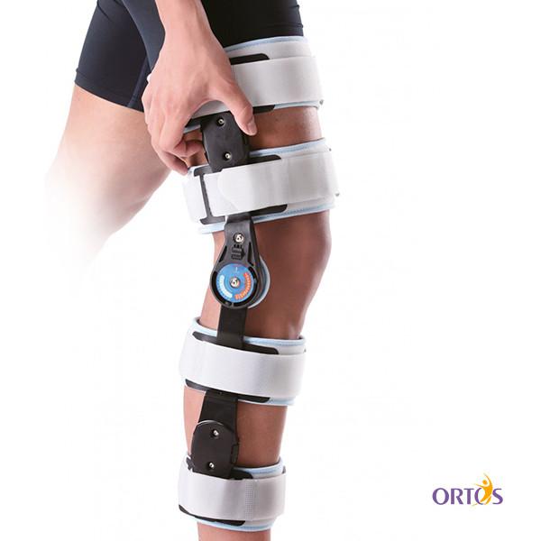 Шарнирный бандаж (ортез) на колено с ограничением сгибания Wellcare 52001