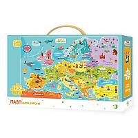Пазлы карта Европы ТМ DoDo арт. 300129