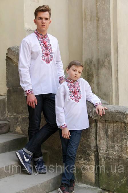 Красная вышиванка для мальчика, червона вишиванка для хлопчика