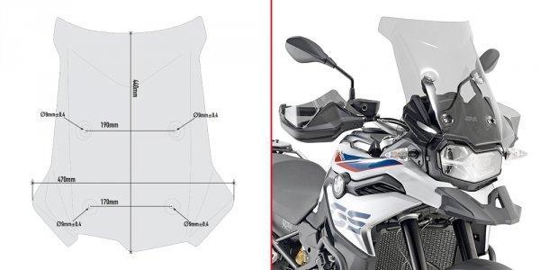 Ветровое стекло Givi D5127S для мотоцикла BMW F750 GS