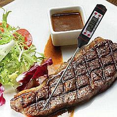 Харчової термометр Lesko TP101 (-50 до +300 С) цифровий дисплей для м'яса випічки молока нержавіюча сталь