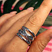 Серебряное кольцо без камней - Стильное серебряное кольцо, фото 8