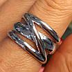 Серебряное кольцо без камней - Стильное серебряное кольцо, фото 7