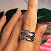 Срібне кільце без каменів - Стильне кільце срібне, фото 6