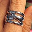 Срібне кільце без каменів - Стильне кільце срібне, фото 5