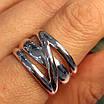 Серебряное кольцо без камней - Стильное серебряное кольцо, фото 4