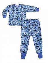 Піжама хл. Smil 104257 , 80 байка блакитний