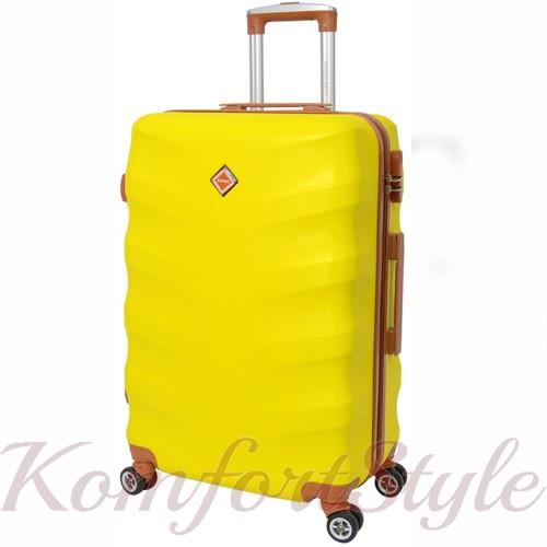 Дорожный чемодан на колесах Bonro Next маленький желтый (10642007)