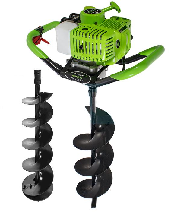 Мотобур Craft-tec PRO EA-200 (в комплекте 1 шнек 100мм и 1 шнек 200мм). Бензобур Крафт-Тек