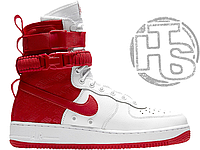Мужские кроссовки Nike Special Field Air Force 1 High White University Red AR1955-100