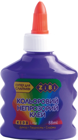 Клей фіолетовий непрозорий на PVA-основі, 88 мл