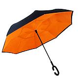 Зонт обратного сложения Up-brella Orange + чехол (n-81), фото 3