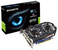 Відеокарта GIGABYTE GeForce GTX 750 Ti 1033Mhz PCI-E 3.0 2048Mb 5400Mhz 128 bit 2xDVI 2xHDMI HDCP Б/У