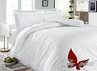 Комплект постельного белья полуторный из ранфорса Белый в полоску