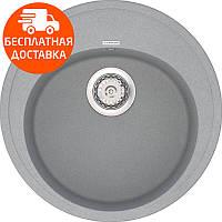 Кухонная мойка из кварцевого камня круглая Vankor Sity SMR 01.50 Gray Stone серый