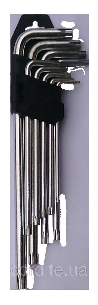 """Ключі torx 9 шт CrV (довгі) """"QT"""", фото 1"""