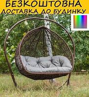 """Подвесное 2-х местное кресло кокон """"УК-21"""". Разные раскраски."""