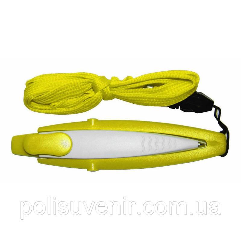 Ручка двоколірна для конференцій з шнурком і карабіном